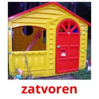 zatvoren picture flashcards