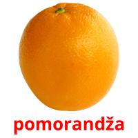 pomorandža picture flashcards