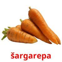 šargarepa picture flashcards