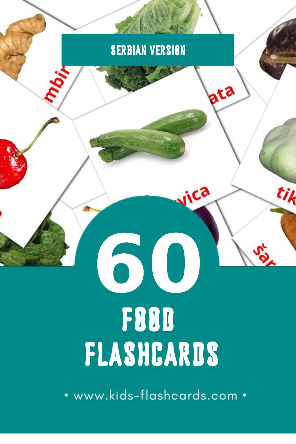 Visual povrce Flashcards for Toddlers (49 cards in Serbian)