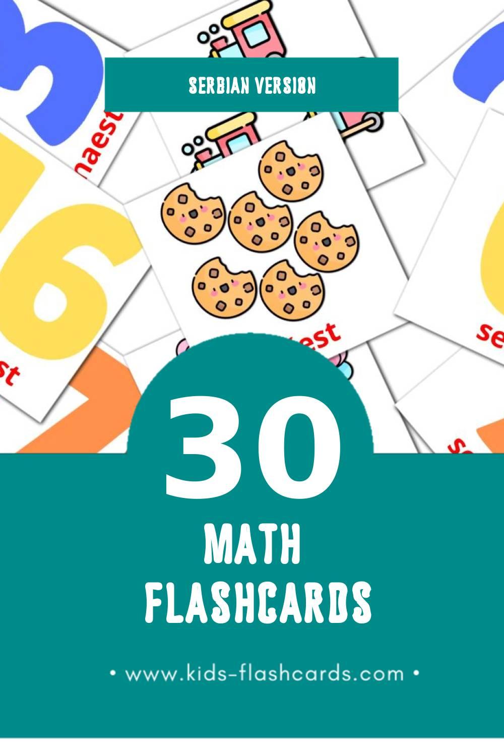 Visual Matematika Flashcards for Toddlers (30 cards in Serbian)