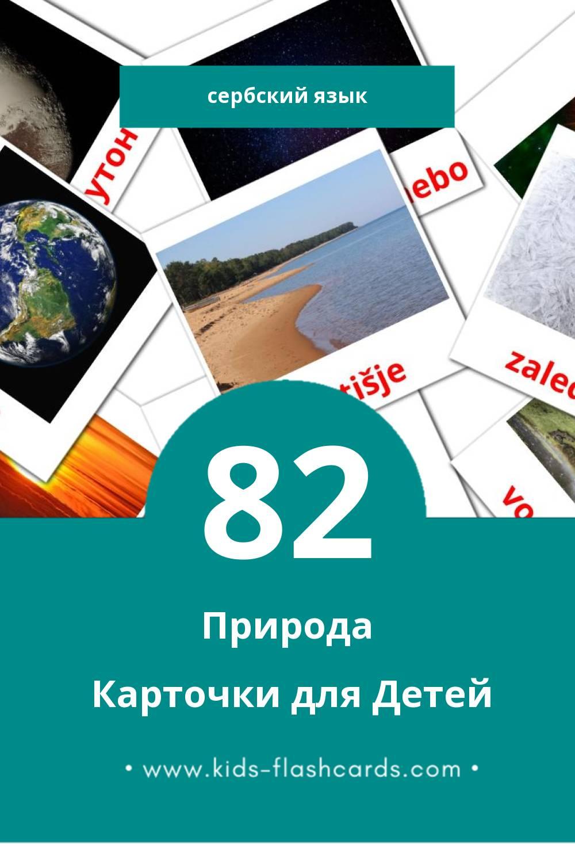 """""""Priroda"""" - Визуальный Сербском Словарь для Малышей (51 картинок)"""