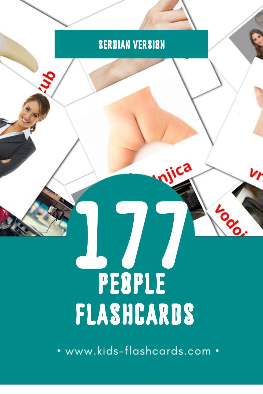 Visual Ljudsko telo Flashcards for Toddlers (58 cards in Serbian)