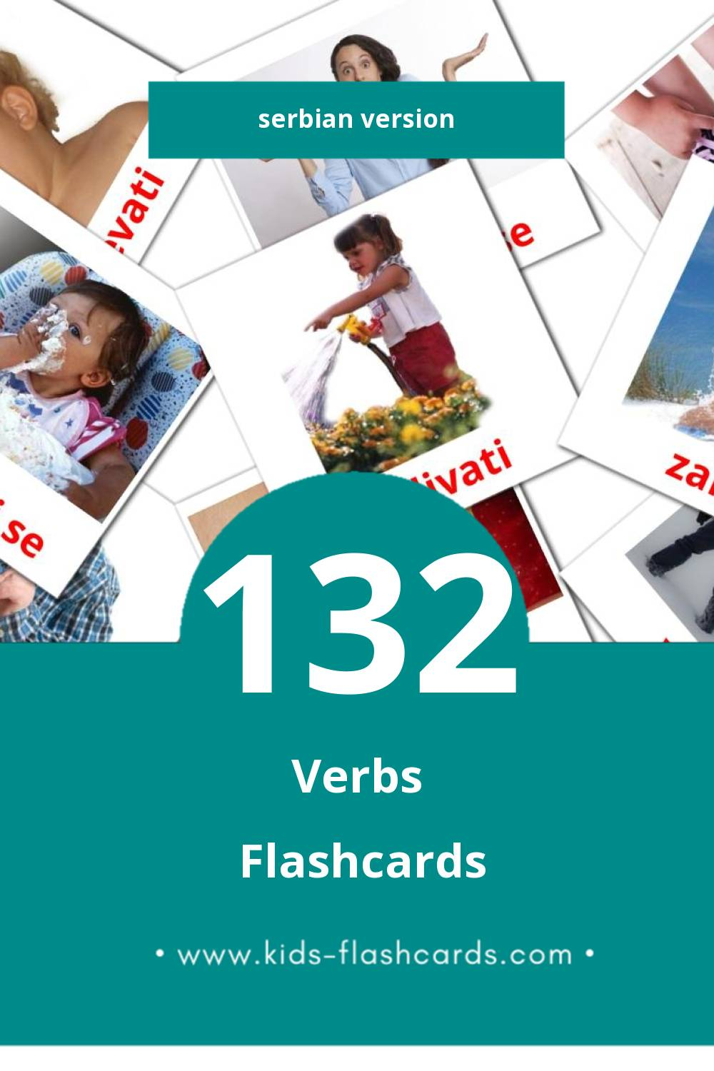 Visual Glagoli Flashcards for Toddlers (133 cards in Serbian)