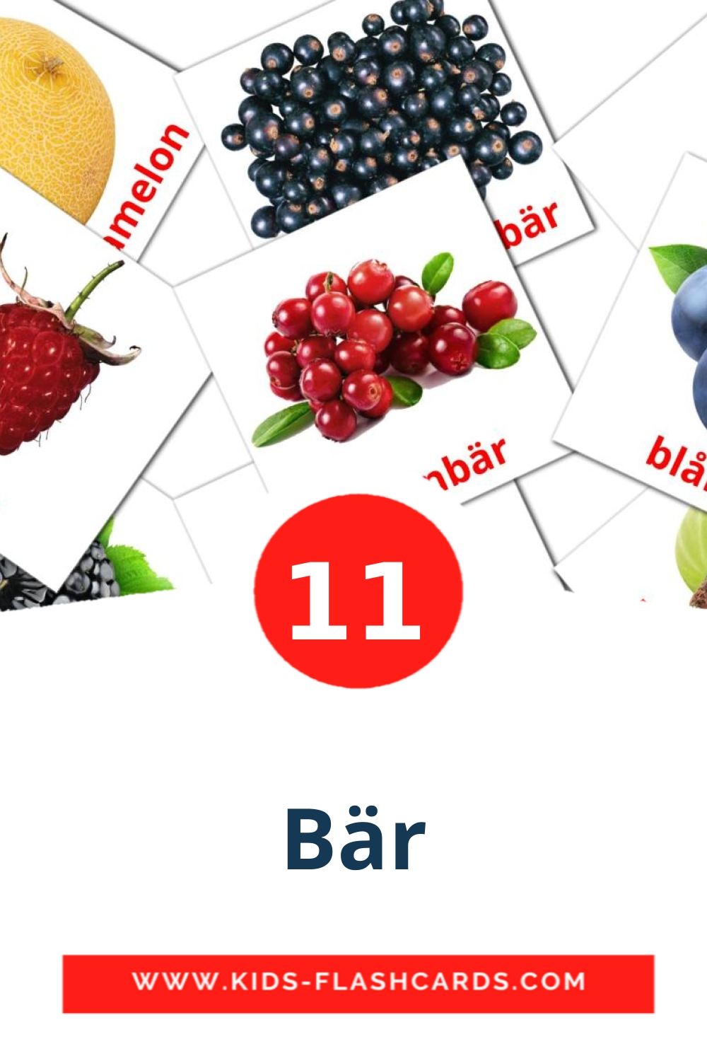 11 Bär Picture Cards for Kindergarden in swedish