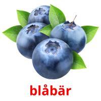 blåbär picture flashcards
