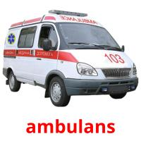 ambulans picture flashcards