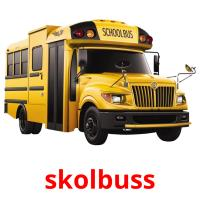 skolbuss picture flashcards