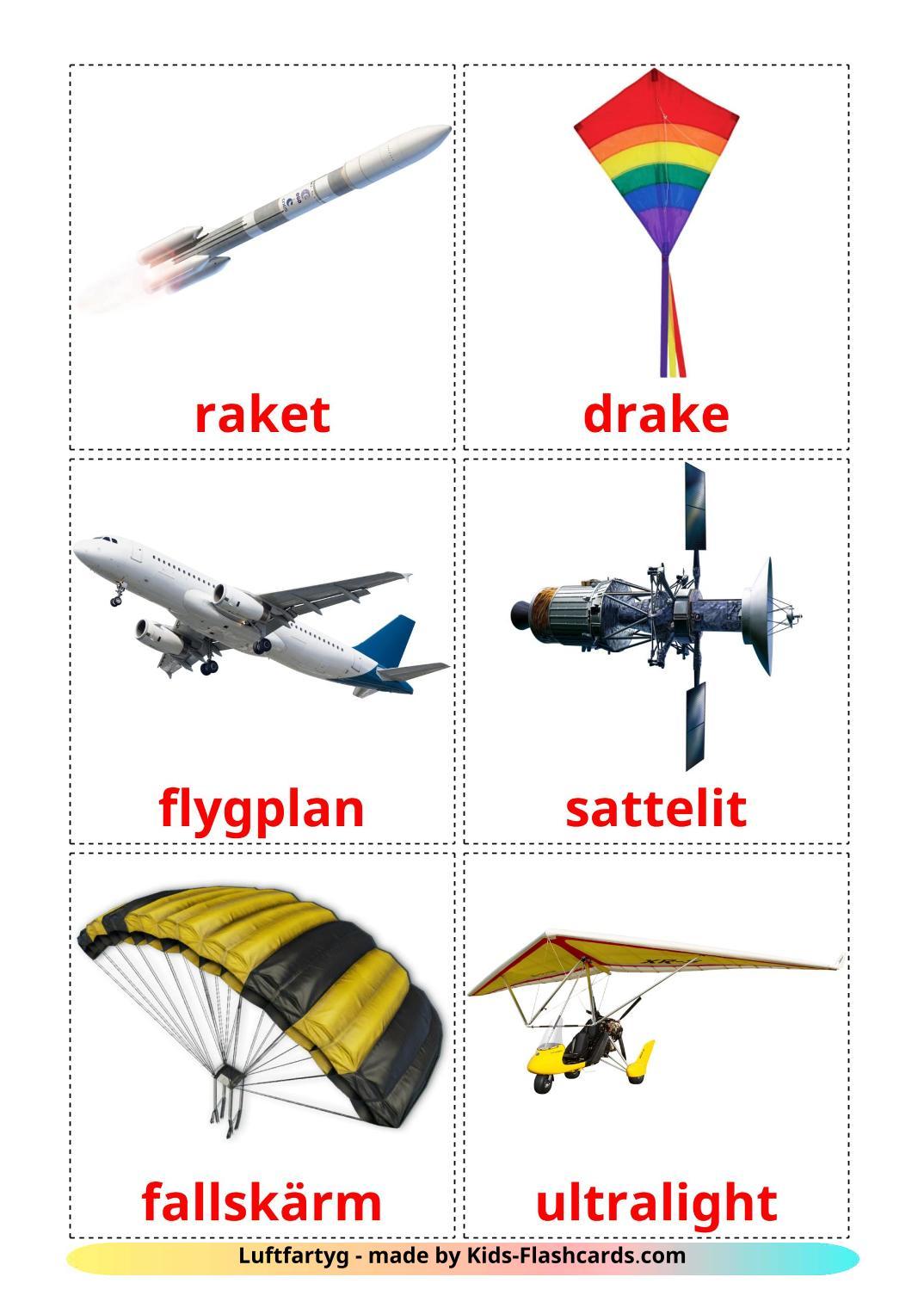 Aircraft - 14 Free Printable swedish Flashcards