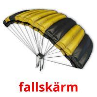 fallskärm picture flashcards