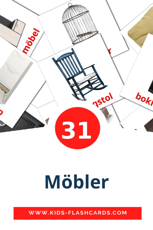 31 Möbler Picture Cards for Kindergarden in swedish