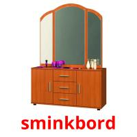 sminkbord picture flashcards
