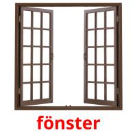 fönster picture flashcards