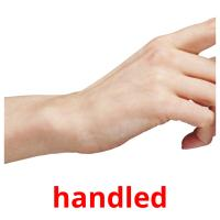 handled picture flashcards