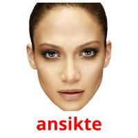 ansikte picture flashcards