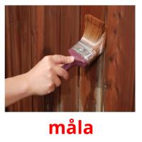 måla picture flashcards