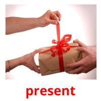 present picture flashcards