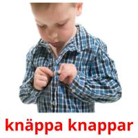 knäppa knappar picture flashcards