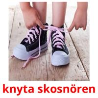 knyta skosnören picture flashcards