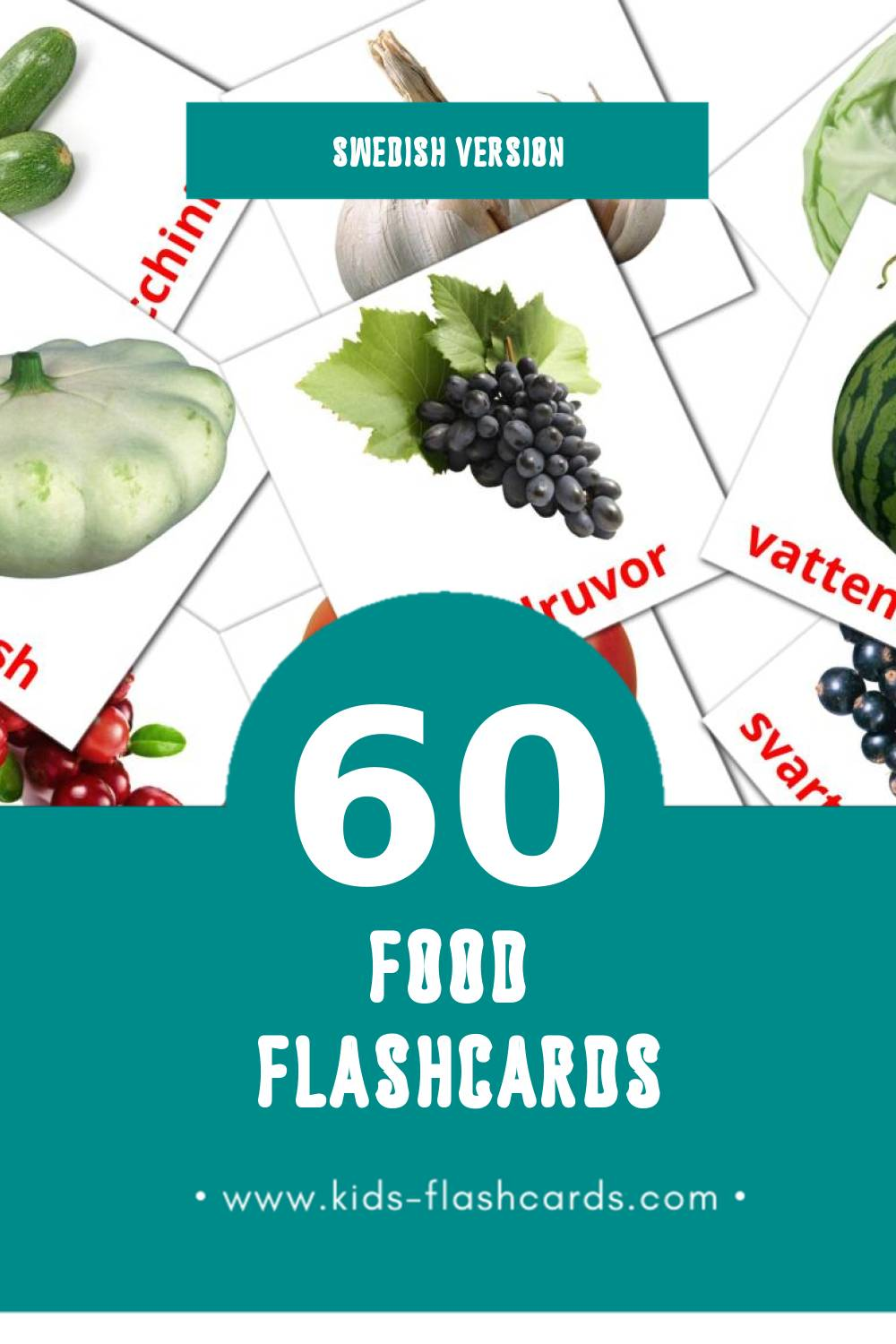 Visual Mat Flashcards for Toddlers (60 cards in Swedish)
