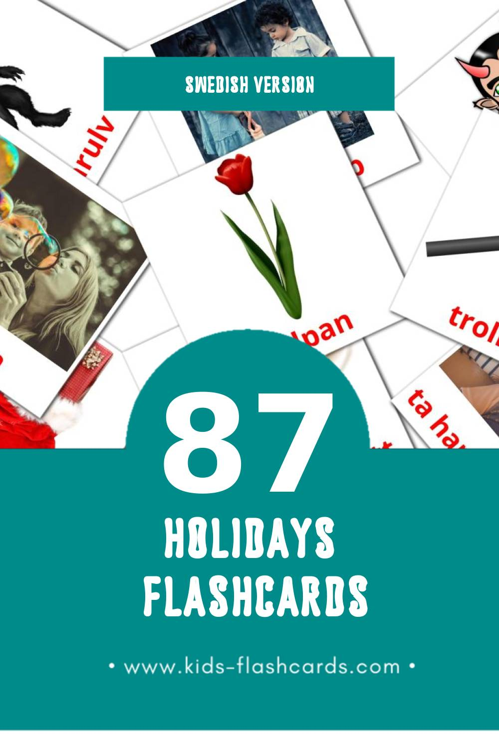 Visual högtider Flashcards for Toddlers (87 cards in Swedish)