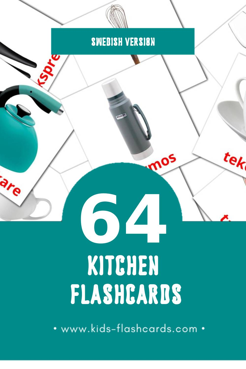 Visual Köket Flashcards for Toddlers (64 cards in Swedish)