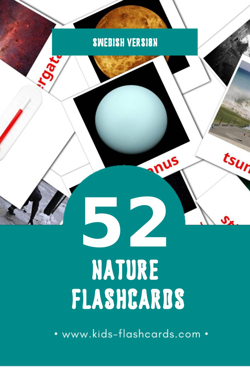 Visual Natur Flashcards for Toddlers (31 cards in Swedish)