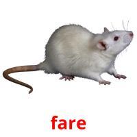 fare picture flashcards