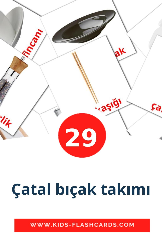 {2} Çatal bıçak takımı Picture Cards for Kindergarden in turkish