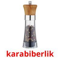 karabiberlik picture flashcards