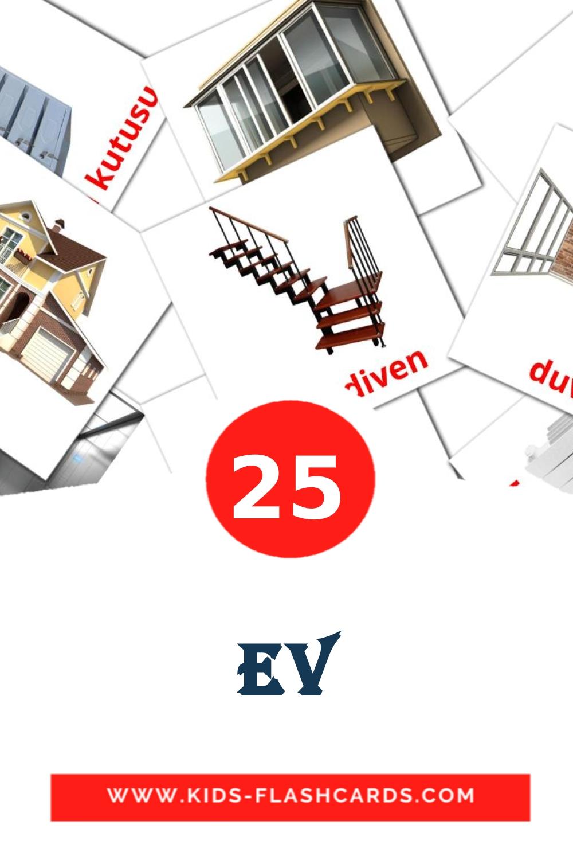 Ev на турецком для Детского Сада (25 карточек)