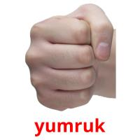 yumruk picture flashcards