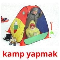 kamp yapmak picture flashcards