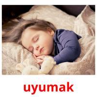 uyumak picture flashcards