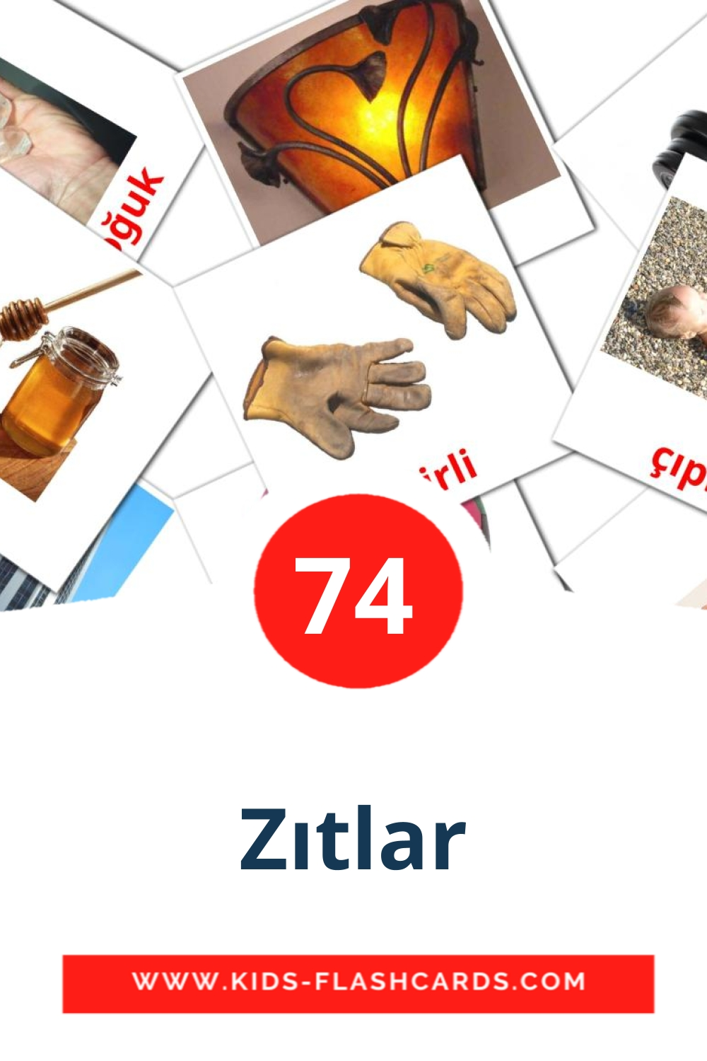 74 Zıtlar Picture Cards for Kindergarden in turkish