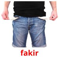 fakir picture flashcards