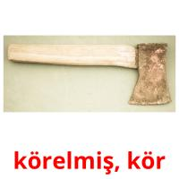 körelmiş, kör picture flashcards