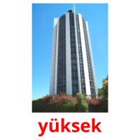 yüksek picture flashcards