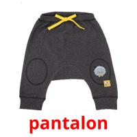pantalon picture flashcards