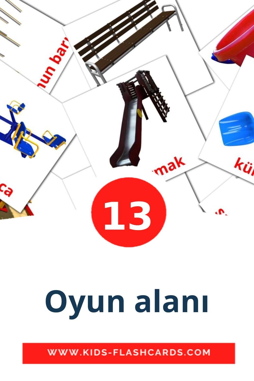 13 Oyun alanı Picture Cards for Kindergarden in turkish