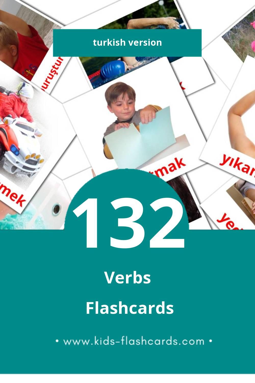 Visual kelimeler Flashcards for Toddlers (133 cards in Turkish)
