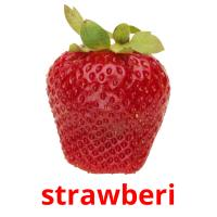 strawberi picture flashcards