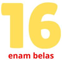 enam belas picture flashcards
