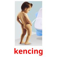 kencing picture flashcards