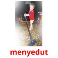 menyedut picture flashcards