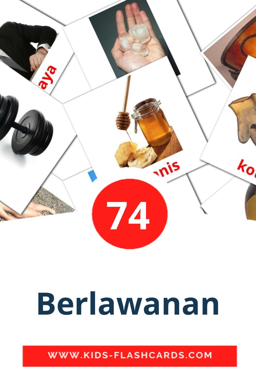 Berlawanan на малайском для Детского Сада (74 карточек)