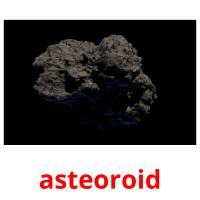 asteoroid picture flashcards