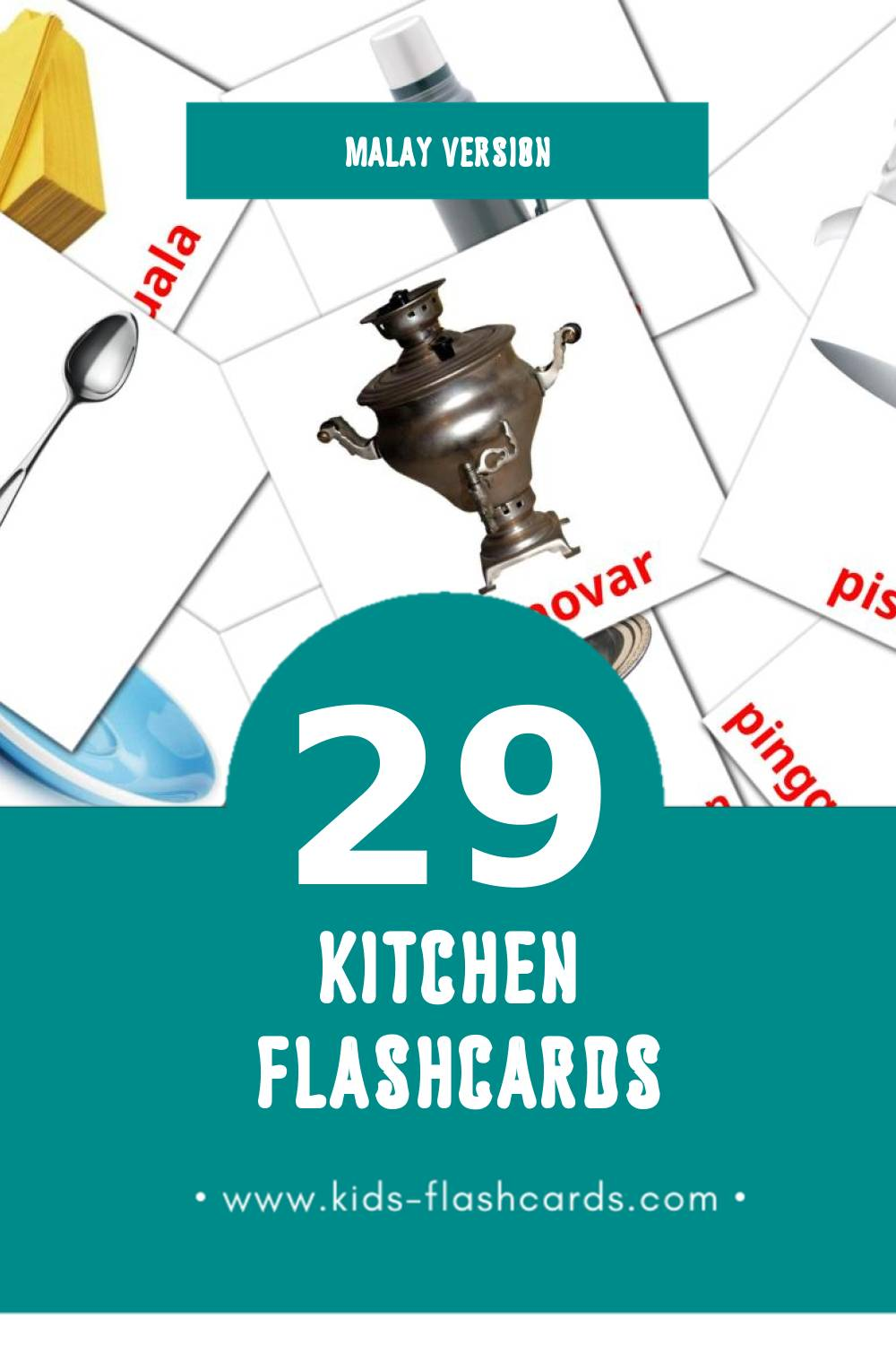 Visual Dapur Flashcards for Toddlers (29 cards in Malay)