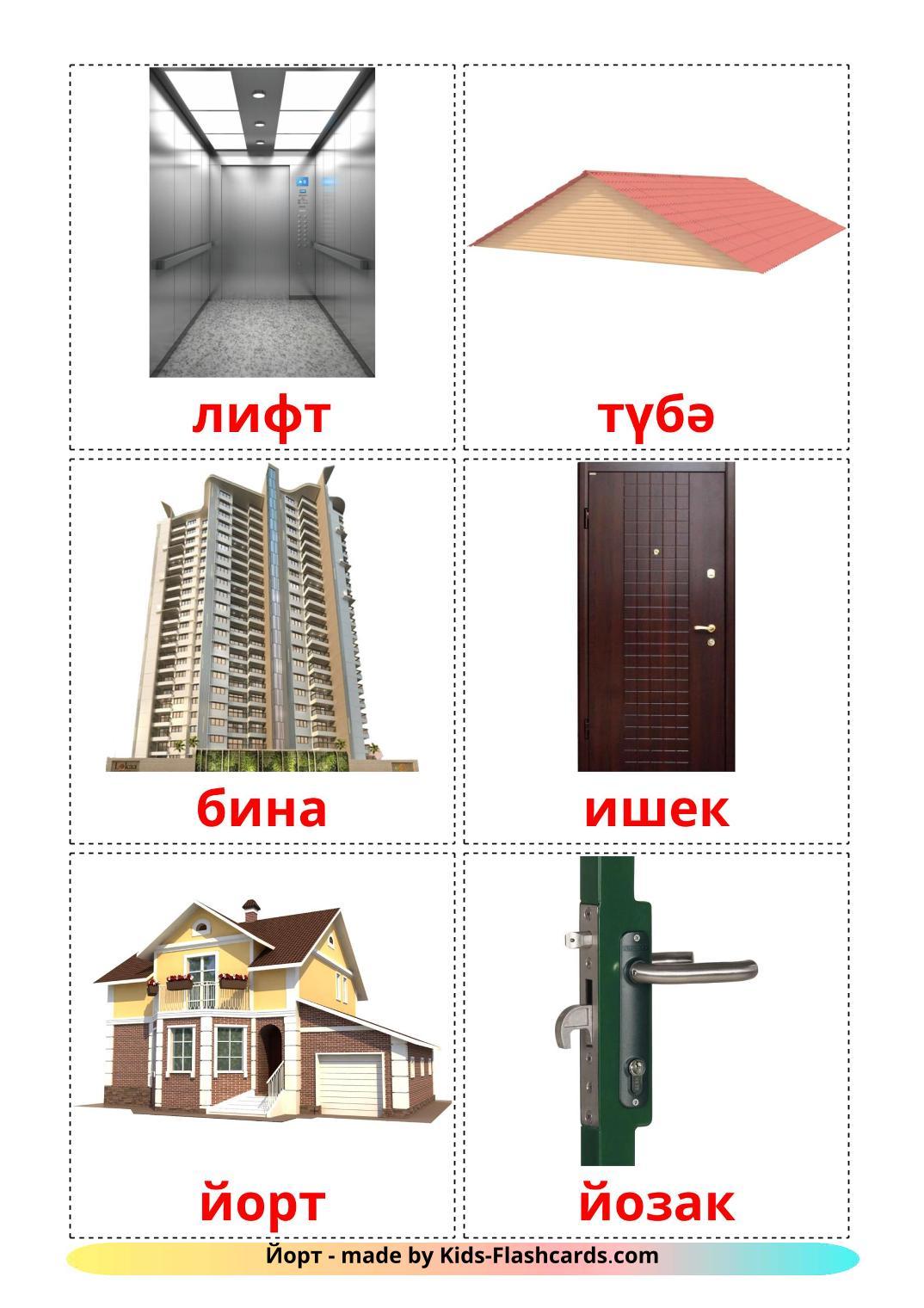 House - 25 Free Printable tatar Flashcards