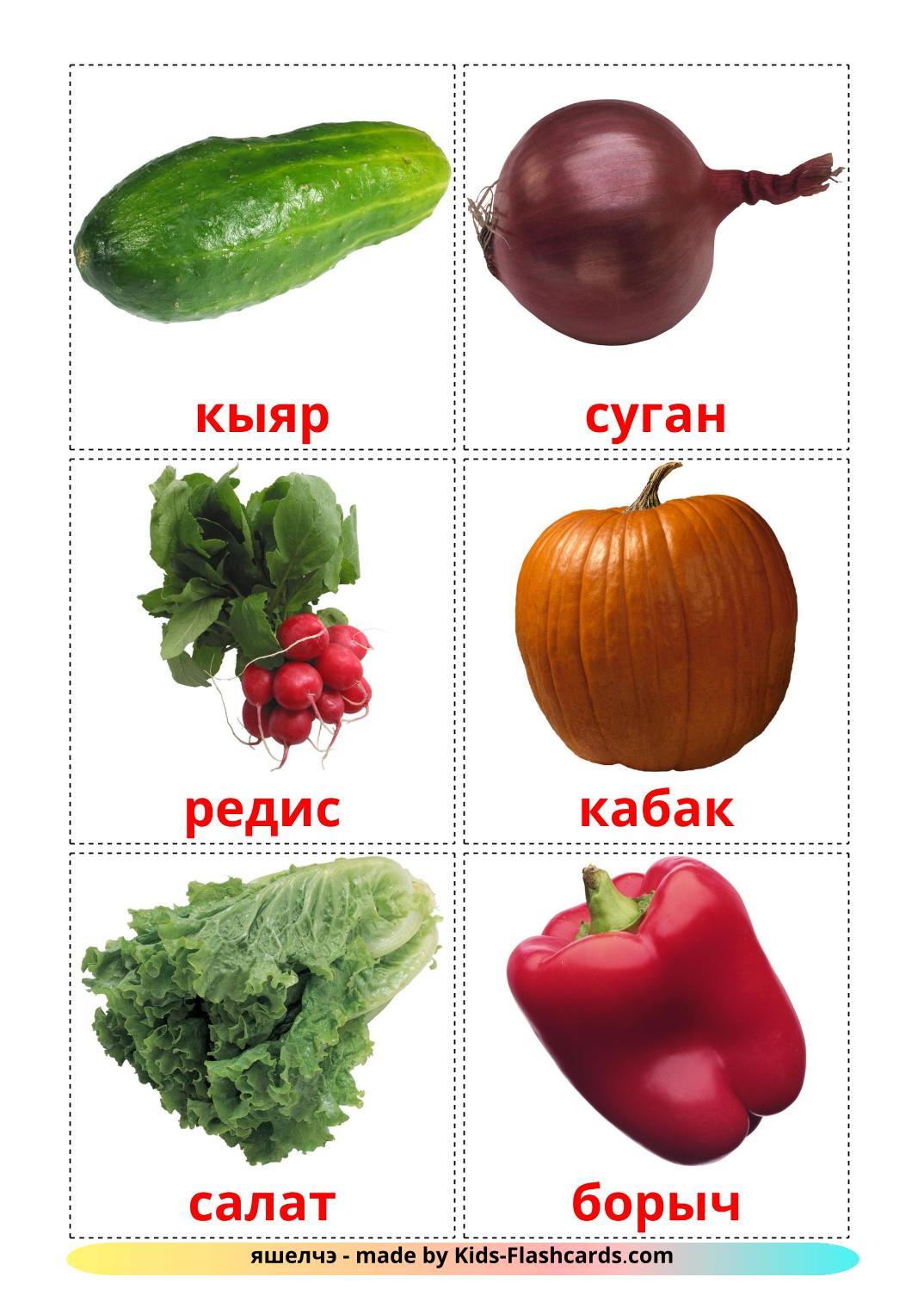 Vegetables - 29 Free Printable tatar Flashcards